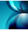 Abstract 3d waves modern business background vector