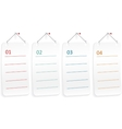 Note paper with push pin vector