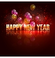 Happy new year holiday background with flying vector