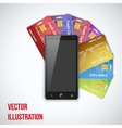 Credit card and cell phone vector