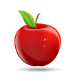Drawing a red apple on a white background vector