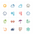 Weather icons - colored series vector