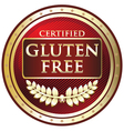 Gluten free red label vector