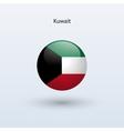 Kuwait round flag vector
