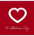 Pretty icon white heart for valentines day vector