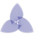 Abstract blue flower vector