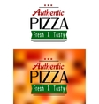 Authentic pizza labels vector