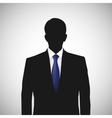 Unknown person silhouette whith blue tie vector