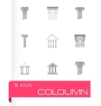 Coloumn icons set vector