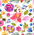Watercolor natural seamless pattern vector