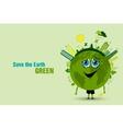 Saving the earth ecology concept vector