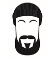 Face of a man with beard and mustache vector