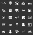 Application icons on gray background vector