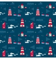 Seamless pattern lighthouses vector
