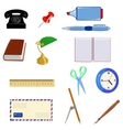 Set of different office objects vector