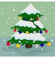Christmas tree colorful vector