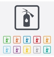 Fire extinguisher sign icon fire safety symbol vector