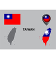 Map of taiwan and symbol vector