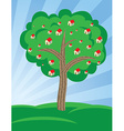 Houses growing on tree vector