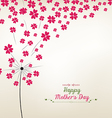 Dandelion hearts greeting card mothers day vector