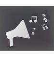 Musical speaker background vector
