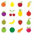 Mixed fruits icons vector
