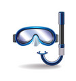 Diving mask isolated vector