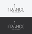 Alphabet france design concept with flat sign vector
