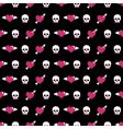 Skulls and hearts vector