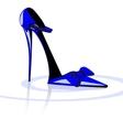Blue shoe vector