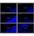 Set of buisness card blue vector