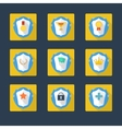 Trophy and awards icons in flat design style vector