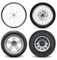 Tires for bicycle motorcycle car and truck vector