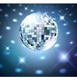Silver disco bal vector