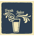 Juice retro poster blue vector