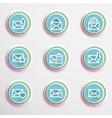 Envelope buttons vector