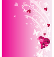 Valentine place card vector