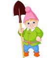Garden gnome with shovel vector