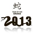 New year snake 2013 vector