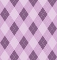 Argyle background in purples vector