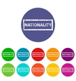 Nationality flat icon vector