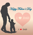 Father day card-love dad message on sugar heart vector