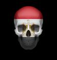 Egyptian flag skull vector