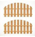 Wooden semicircular fence vector