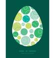 Abstract green circles easter egg vector