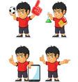 Soccer boy customizable mascot 7 vector