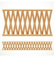 Wooden fence from crossed vector