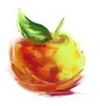 Drawing apple vector
