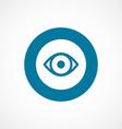 Eye bold blue border circle icon vector