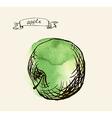 Artistic apple sketch vector